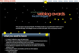The 2007 bloggies